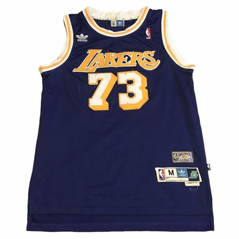 pretty nice 9013e e2cc3 Throwback LA Lakers Dennis Rodman Jersey