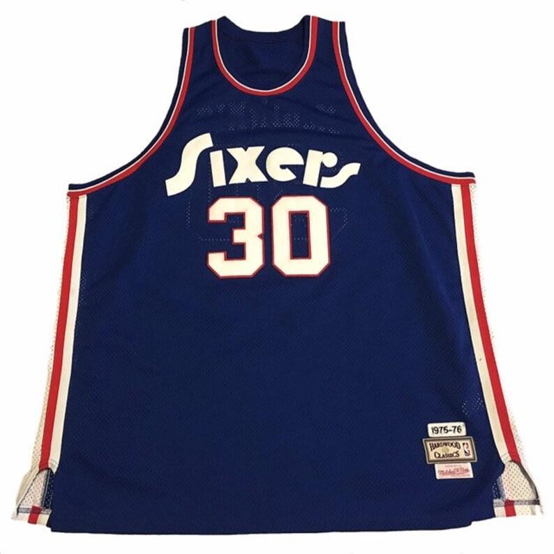 quality design c30cd e1c9a Throwback Philadelphia 76ers George McGinnis Jersey