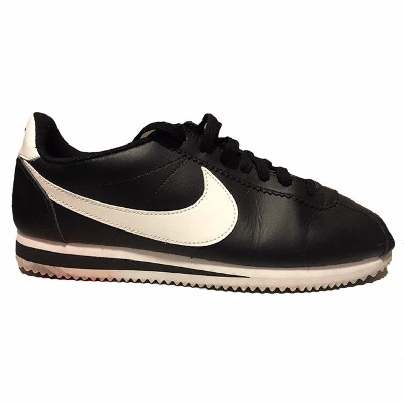 the best attitude 9743b 1270f Black Nike Cortez Shoes   Etsy