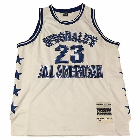 on sale b80e6 1bf73 Throwback Michael Jordan McDonald's All American Jersey