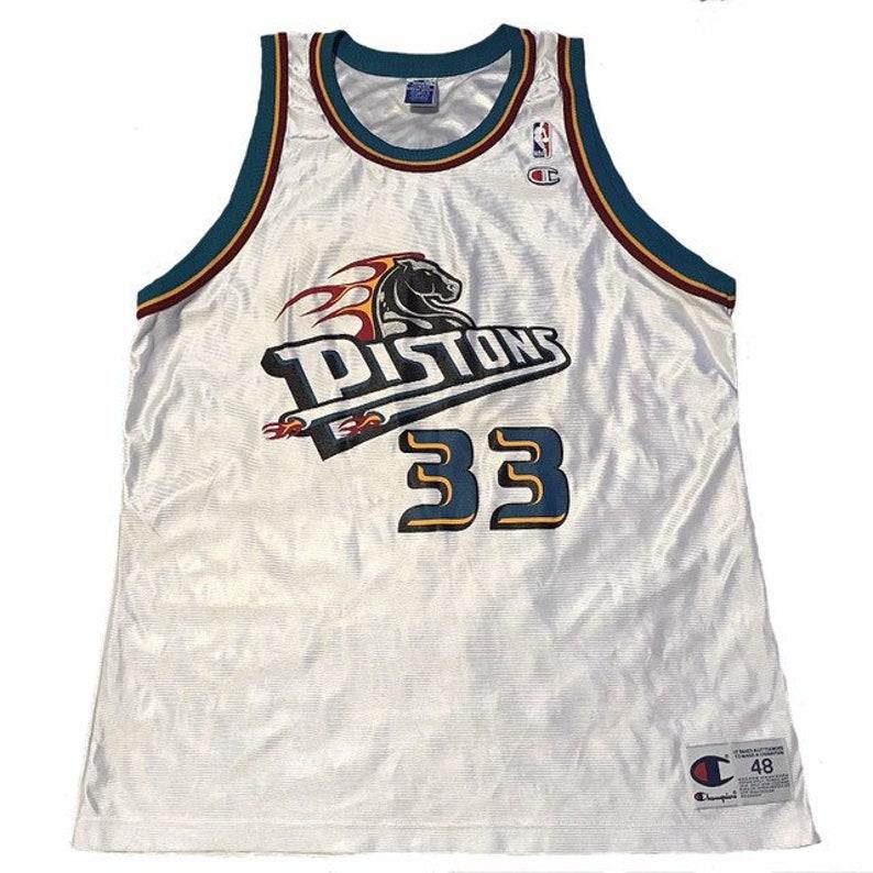 100% authentic 507c2 fda6a Vintage Detroit Pistons Grant Hill Jersey