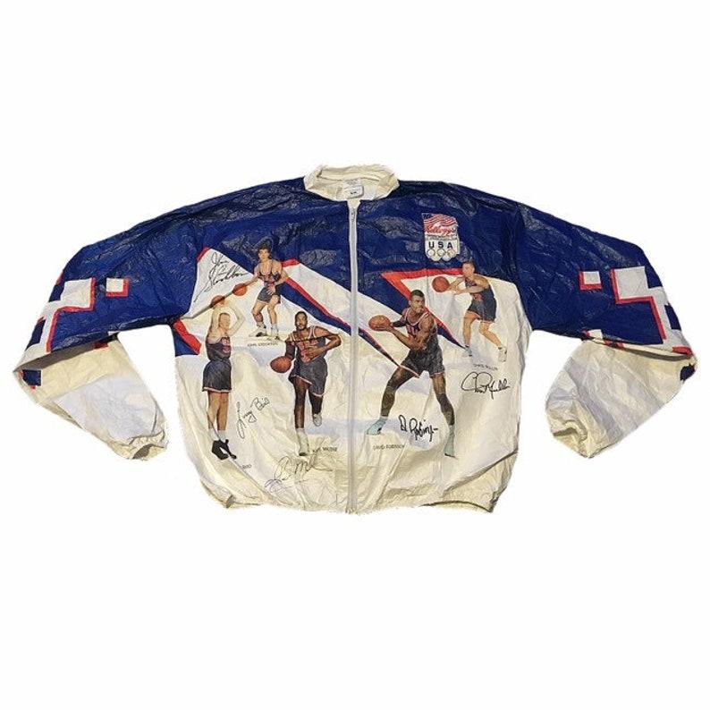 fa54d306fcfe7 Vintage USA 1992 Olympic Dream Team Jacket