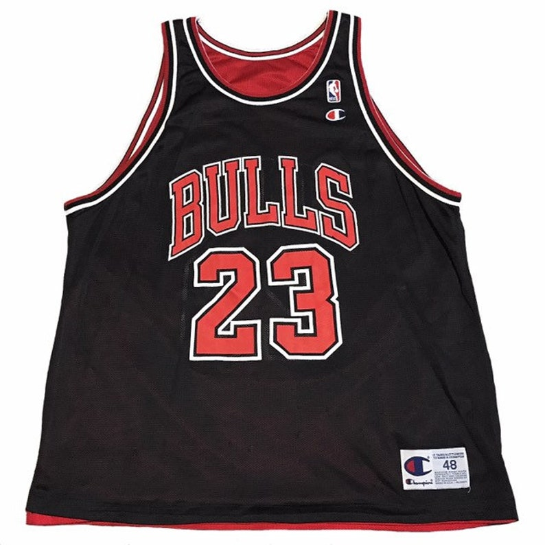 c9ec8e4e46d5d Vintage Chicago Bulls Michael Jordan Reversible Jersey | Etsy