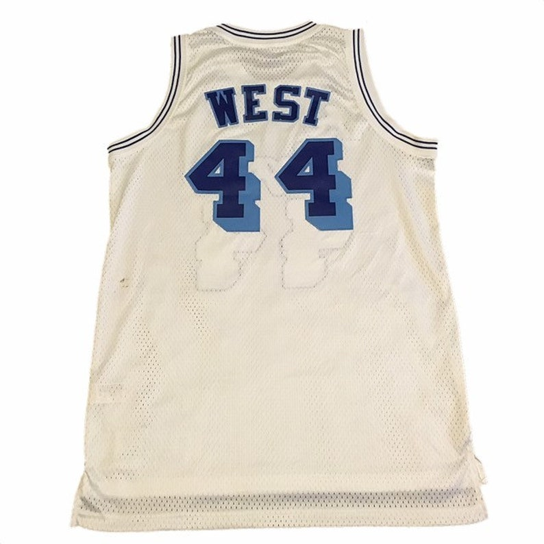 Throwback LA Lakers Jerry West Jersey  f72997bd5