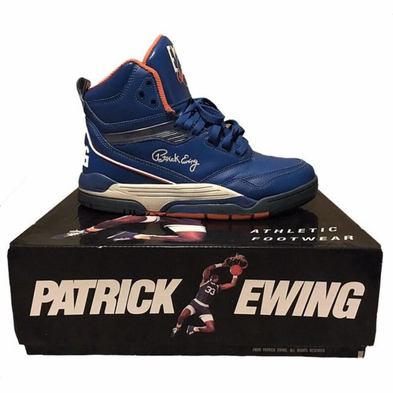 4e579df3f3e Vintage Patrick Ewing 33 Hi Shoes   Etsy