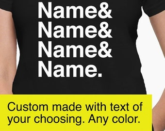 812ba62b Custom name shirt, name shirt, name t-shirt, name tee, custom made t-shirt,  custom made shirt, name list shirt
