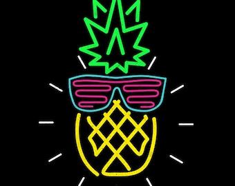 9816a8235284 Rad Pineapple - 1980s retro t-shirt