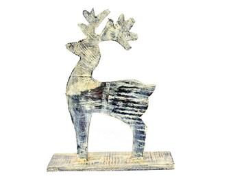 Wooden Deer Figurine Etsy