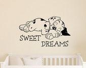 Disney Dalmatian Sweet Dreams Wall Decal Cute Puppy Dog 101 Dalmatians Vinyl Sticker Quote Home Interior Art Kids Room Nursery Decor 4dls