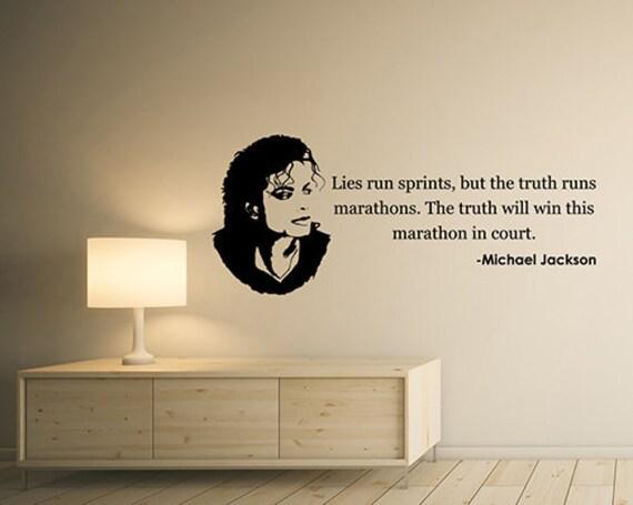 Lies Run Sprints Michael Jackson Inspirational Quote Wall Sticker Singer Musician Saying Vinyl Decal King Of Pop Art Home Room Decor 2jqs