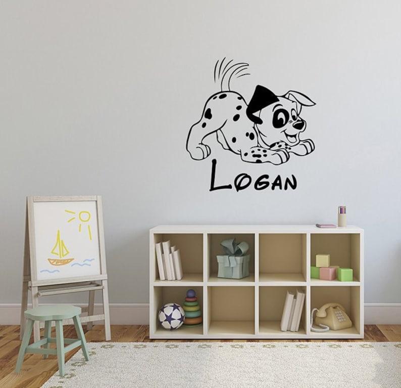 101 dalmatian personalized wall sticker disney custom name etsy