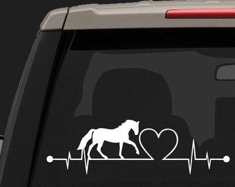 Heartbeat Horse Heart Car Magnet Refrigerator Magnet NEW