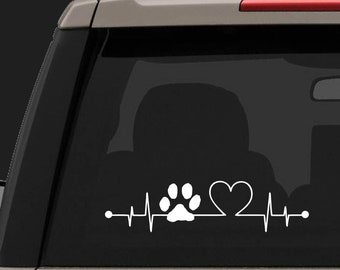Heartbeat decal | Etsy