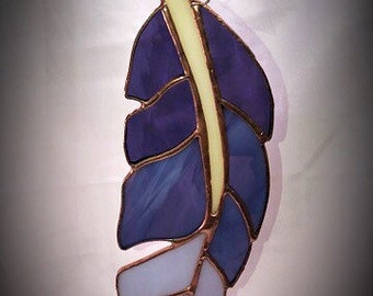 """Feather in Stained Glass - 10"""""""
