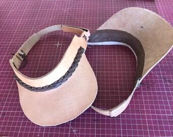 Leather Sun Visor Hat 75b52ac2c0a