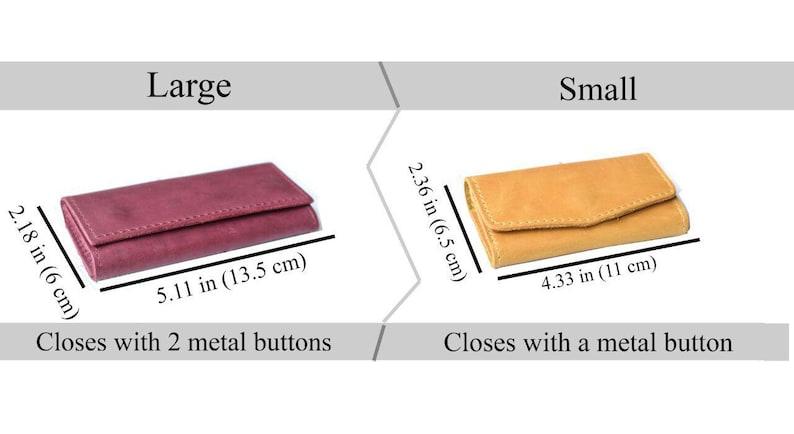 Leather key case/Leather key wallet/Key organizer/Key image 1