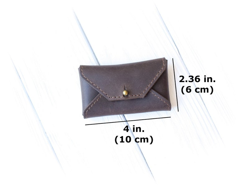 Personalized leather business card holder/Leather credit card image 3