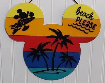 Door Hanger, Wooden Sign, Inspired by Disney Wood Door Hanger, Door Decor, Be Our Guest, Front Door Decor, New Home, Wall Decor, Disney