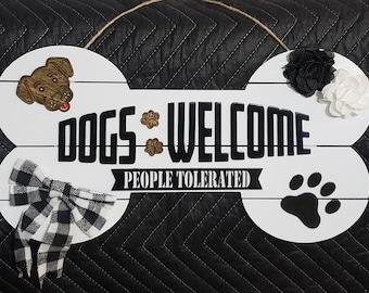 Door Hanger, Wooden Sign, Dog Inspired Wood Door Hanger, Door Decor, Best Gift Ever, Front door decor, new home gifts, Dog Signs, Wall Decor