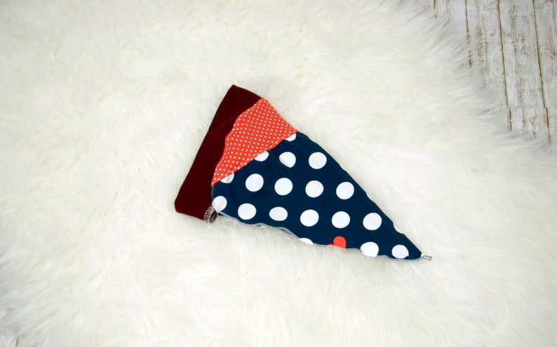 Headscarf summer towel hairband dots blue-red KU 45-50 image 0