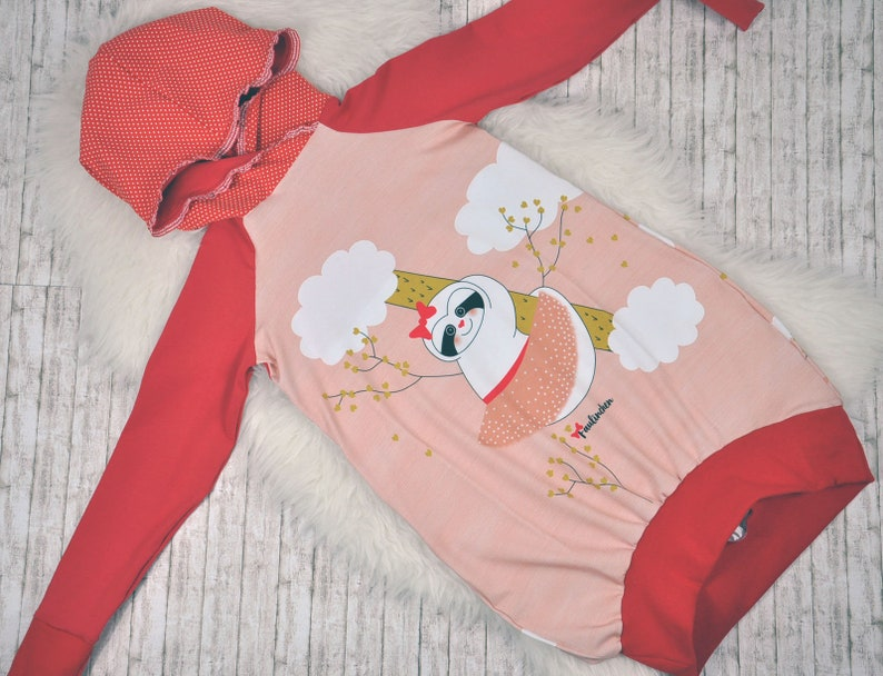 Hoodie dress sweater with sloth image 0