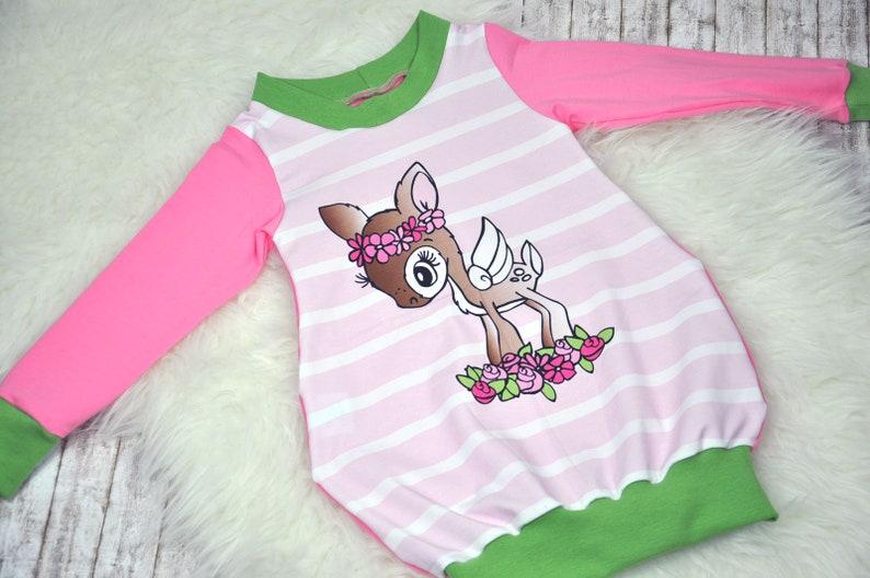 Dress tunic girl dress deer pink image 0