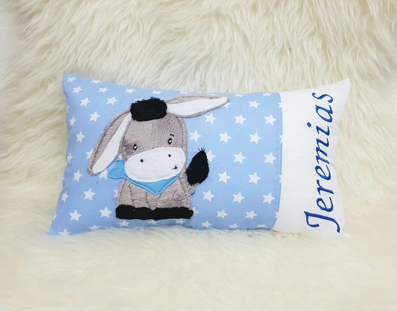 Name pillow children's pillow pillow for birth baptism image 0