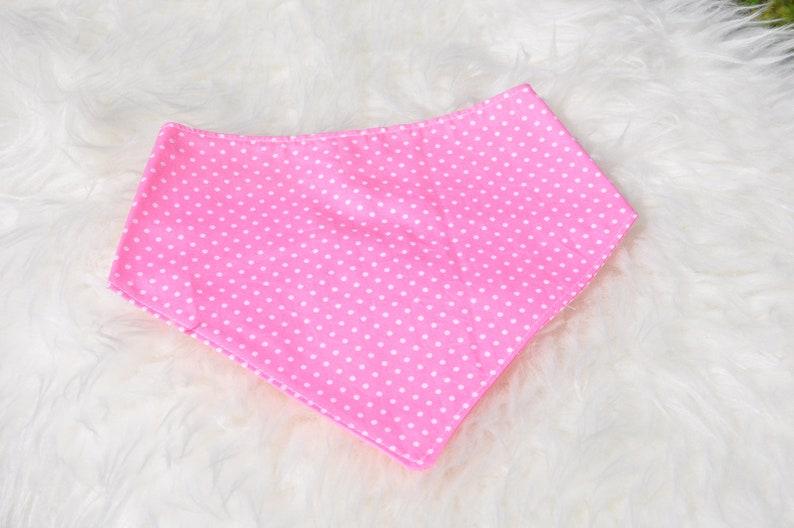 Neckerchief baby cloth triangle cloth spitting cloth pink image 0