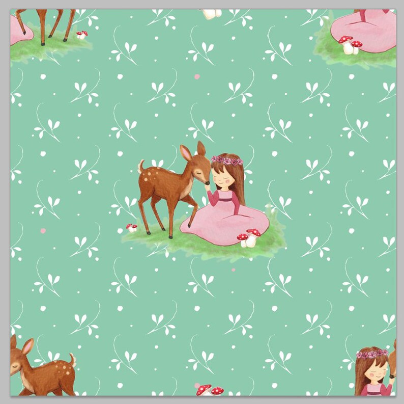 50cm Sweat 20.50eur/meter French Terry Girl Fabric Kids image 0