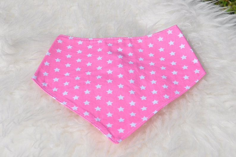 Neckerchief triangle cloth baby cloth spitting cloth pink image 0