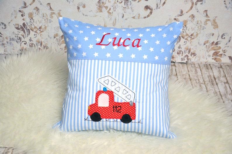 Pillow Name Pillow Birth Pillow Fire Brigade image 0