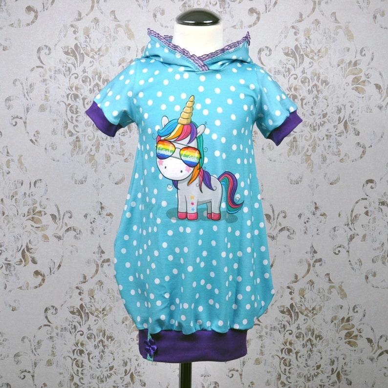 Dress tunic hanger balloon tunic unicorn girl image 0