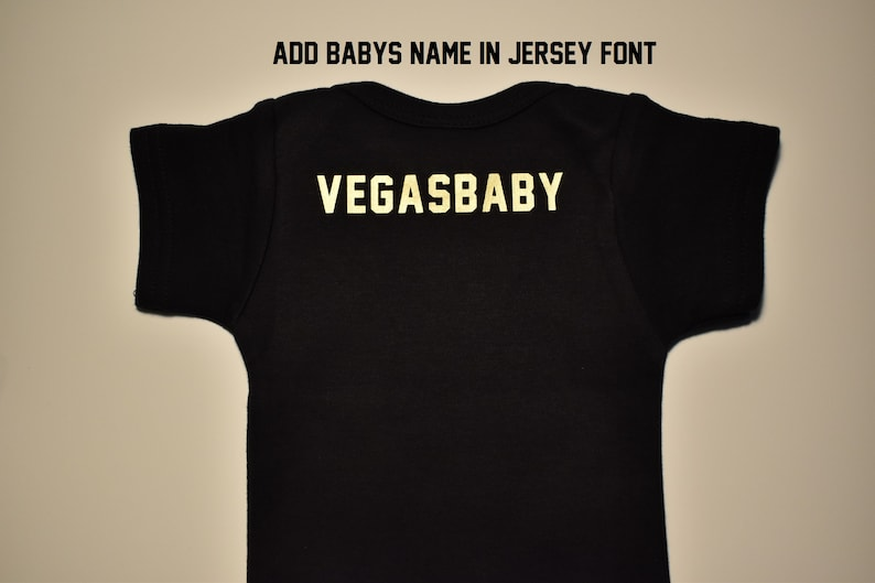 Vegas Born baby body suit