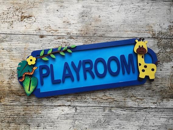personalised door name sign Safari Theme Door Name Plaque