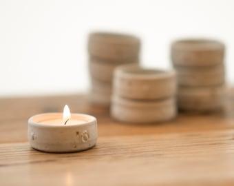 Handmade pottery tea light candle holder