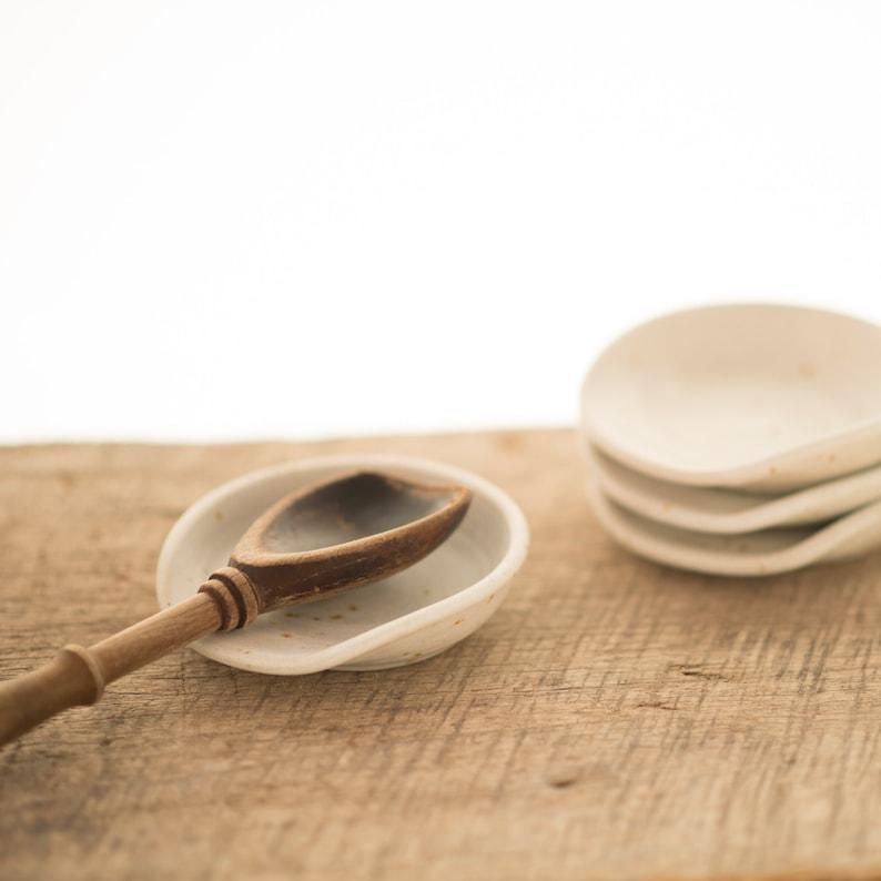 Spoon rest handmade pottery