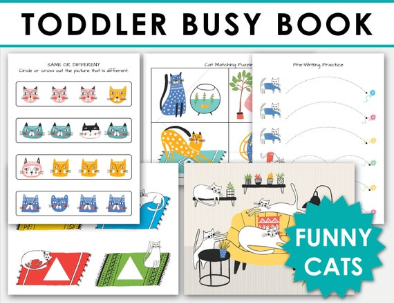 TODDLER BUSY BOOK Printable  Learning Binder Folder  Quiet