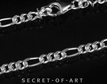 Auswahl Figarokette 45//50//55 cm 2mm Silberkette echtes 925 Sterling Silber