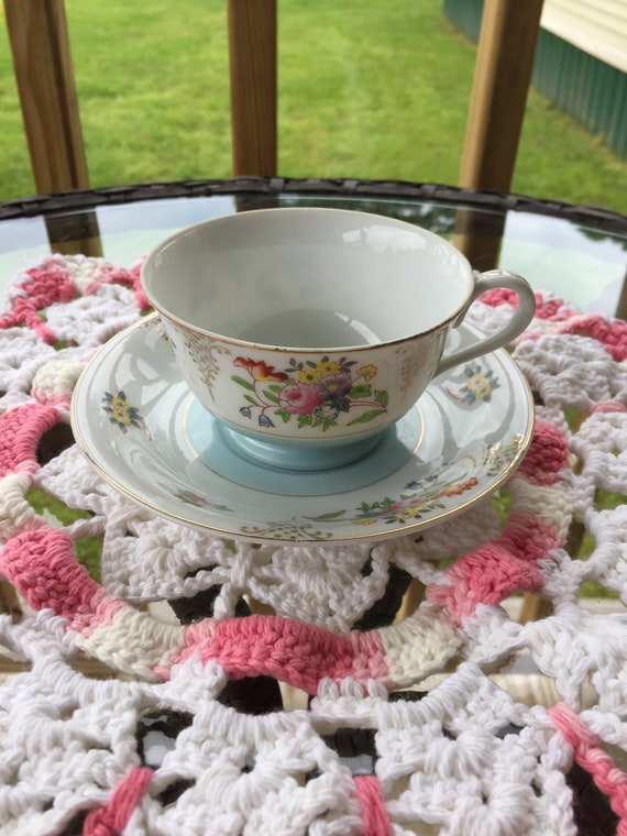 Vintage Merit, made in occupied Japan, tea cup and saucer