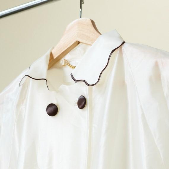 Clear Vinyl Raincoat with Bonnet - image 5