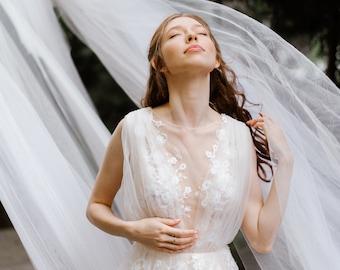 SAMPLE SALE!!! Deep V illusion wedding dress