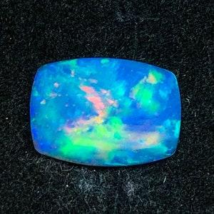 Natural Cushion 4.53 Carats Blue Opal Gemstone Cushion Fire opal Stone Ethiopian Welo Cabochon Cushion Opal stone For Making Big Pendant