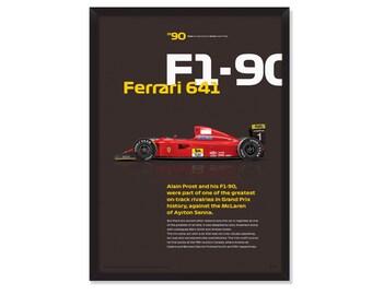 Alain Prost-Ferrari F1-90 poster