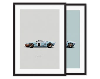 Ford GT40, Gulf Oil livery poster