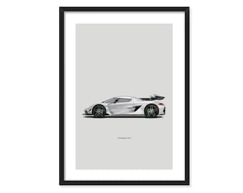 Koenigsegg Jesko - poster