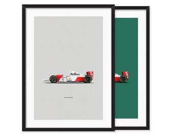 1993 McLaren MP4/8 Formula 1 Car poster