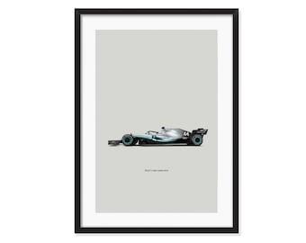 Mercedes W10-Formula 1 poster