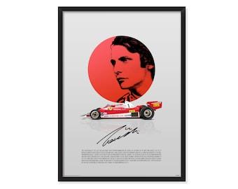 Ferrari 312 T2, Niki Lauda tribute - poster