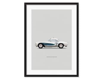 Chevrolet Corvette C1 Le Mans 1962 - poster