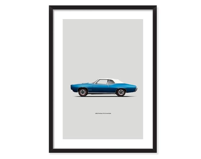 1969 Pontiac GTO convertible-poster